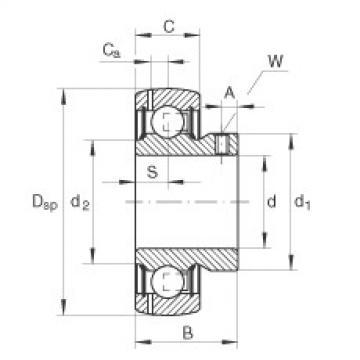 FAG Germany Radial insert ball bearings - GAY12-XL-NPP-B