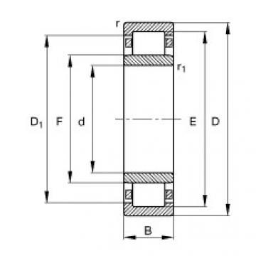 FAG Germany Zylinderrollenlager - NU2209-E-XL-TVP2