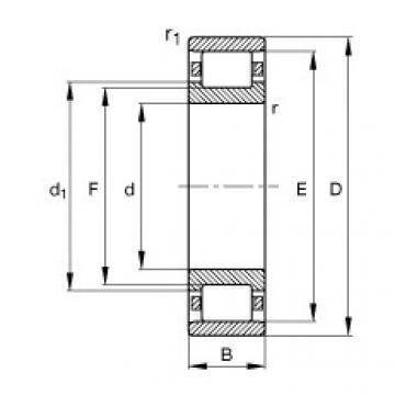 FAG Germany Zylinderrollenlager - N309-E-XL-TVP2