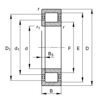 FAG Germany Zylinderrollenlager - NUP2209-E-XL-TVP2