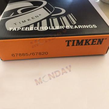 Timken Part Number 67885 - 67820, Tapered Roller Bearings - TS (Tapered Single) Imperial