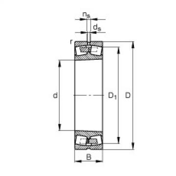FAG Germany Spherical roller bearings - 239/1180-B-K-MB