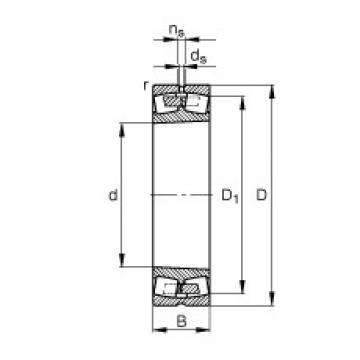 FAG Germany Spherical roller bearings - 249/1120-B-K30-MB