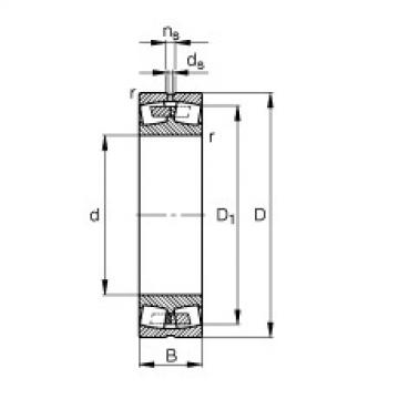 FAG Germany Spherical roller bearings - 238/1180-B-MB