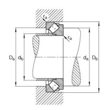 FAG Germany Axial spherical roller bearings - 293/1600-E1-MB