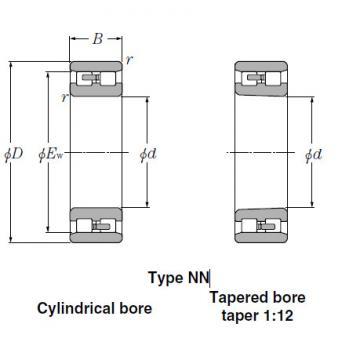 NN3134 Tapered Roller Bearings NTN