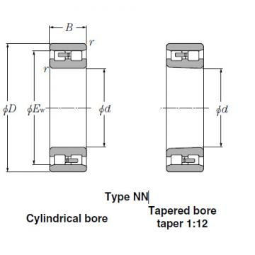NN3938 Cylindrical Roller Bearings NTN