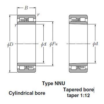 NN3021 Tapered Roller Bearings NTN