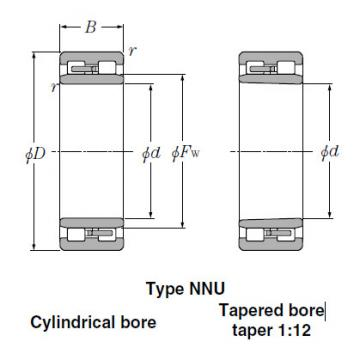 NN3928 Tapered Roller Bearings NTN