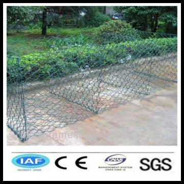 alibaba China wholesale CE&ISO certificated pvc coated gabion basket/gabion wire mesh(hexagonal wire netting)(pro manufacturer)