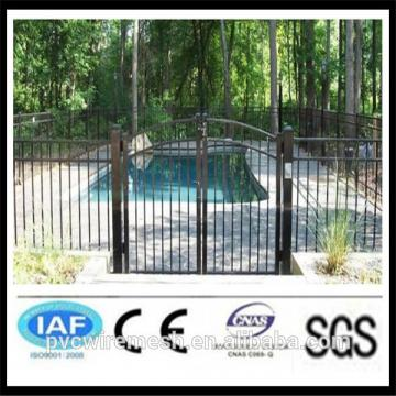 Round tube swimmg pool fence metal gates(ISO certificasion)