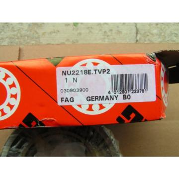 FAG #NU2218E.TVP2 Heavy Duty Roller Bearing NEW!!! Free Shipping