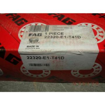NEW FAG Spherical roller bearings 22320-E1-T41D NIB