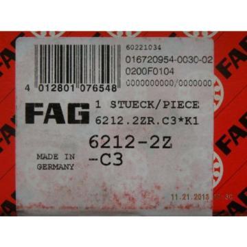 New FAG 6212-2Z-C3 NIB