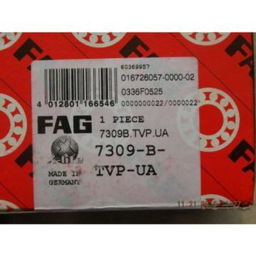 New FAG 7309-B-TVP-US NIB