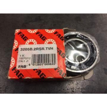 FAG 3205B.2RSR.TVH Double Row Angular Contact Ball Bearing 3205B