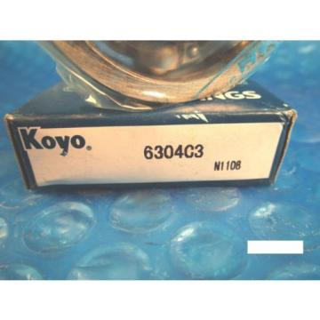 KOYO 6304 C3 Single Row Deep Groove Radial Bearing (Timken 304K, SKF, NSK, FAG)