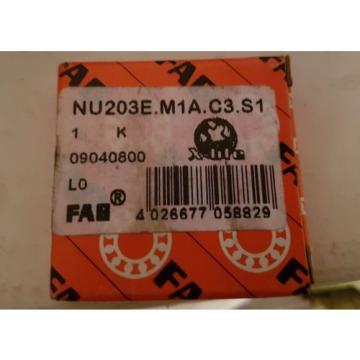 FAG Cylindrical Bearing NU203E M1A C3