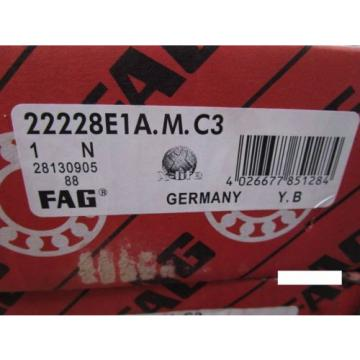 Fag 22228E1AM C3, Spherical Roller Bearing (=2 SKF, NSK ,SNR,Torrington)
