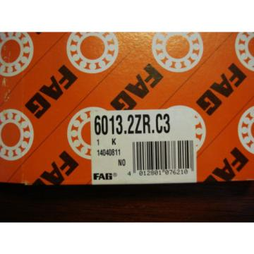 FAG Radial Ball Bearing Dbl Shielded, 65mm x 100mm x 18mm 6013.2ZR.C3 2250mDE2