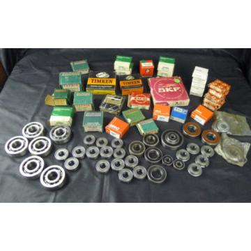 Assorted Lot Ball Bearings SKF Fafnir Nachi Timken FAG MRC Peer Equipment Parts