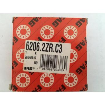 FAG 6206.2ZR.C3 SHIELDED BEARING