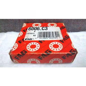 FAG DEEP GROOVE BALL BEARING 6006.C3 NEW 6006C3