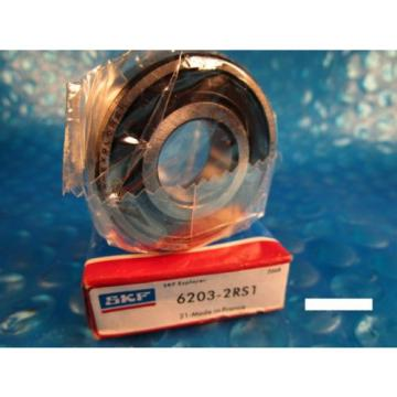 SKF 6203 2RS1, Single Row Radial Ball Bearing (FAG, NTN VV, NSK, Fafnir 203)