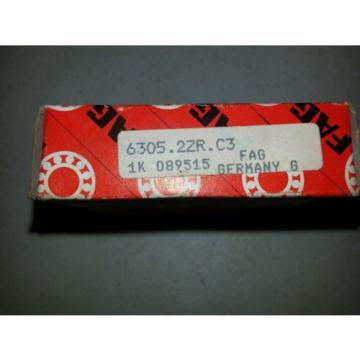 FAG Ball Bearing, Part # 6305.2ZR.C3 *NIB*