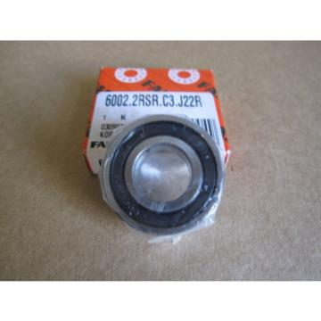 FAG 6002-2RS-C3 J22R Single Row Ball Bearing Double Sealed
