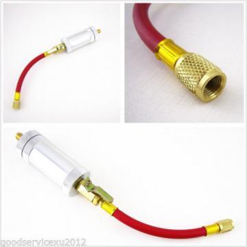 "R134a R12 R22 Car Liquid Filling Oil&Dye Injector Filler Tube 1/4"" Outer Thread"