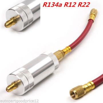 R134A R12 R22 2 oz Autos A/C AC Air Condition Oil&Dye Injector Filler Tube Tool