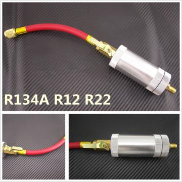 Auto A/C Oil&Dye Liquid Filling Cylinder Injector Filler Tube Tool R134a R12 R22