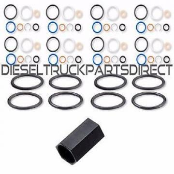 6.0L 03-10 High-Pressure Oil Rail Ball Tube Seal Kit + Tool + Injector O-Rings 8