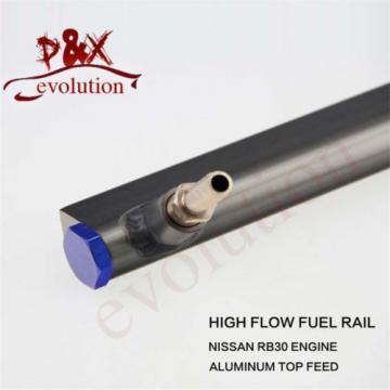 High Flow Injector Aluminum Fuel Oil Rail kit for Audi VW 1.8L Turbo 20V blue