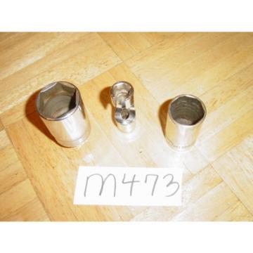 SNAP-ON TOOLS 3 PIECE METRIC INJECTOR, FLARE NUT, OIL PRESSURE SENDER SOCKETS