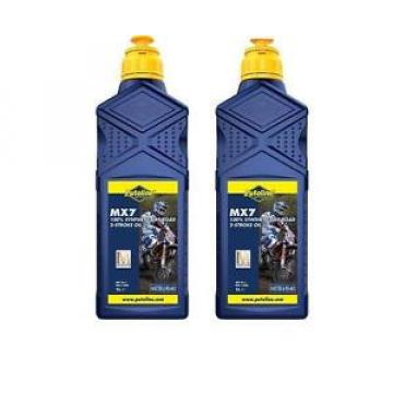 2 X 1LITRE PUTOLINE MX7 TWO STROKE OIL full synthetic  LITRE pre mix & injector