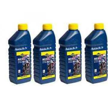 4 X 1 LITRE PUTOLINE MX5 TWO STROKE OIL synthetic  LITRE pre mix & injector