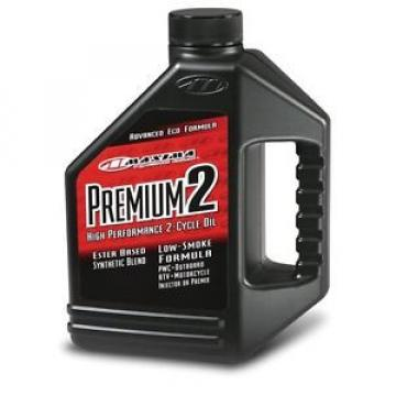Maxima 219128 Premium 2 Smokeless 2-Stroke Premix/Injector Oil - 1 Gallon