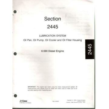 Case 6-590 Diesel Engine Manual Block Cooling Oil Fuel Pump Injectors 1992 0130F