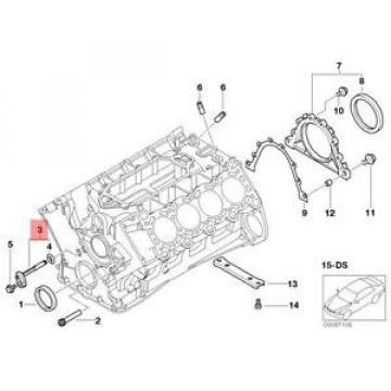 Genuine BMW E38 E65 Saloon Oil Spraying Injector OEM 11312248620
