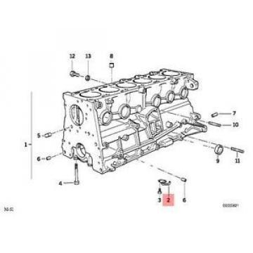 Genuine BMW E34 E36 E38 E39 Compact Oil Spraying Injector OEM 11422243332
