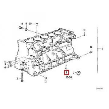 Genuine BMW E34 E36 E38 E39 E46 E60 E85 Oil Spraying Injector OEM 11421748199