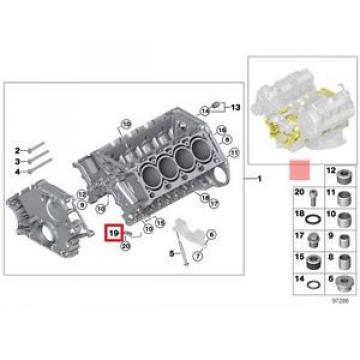Genuine BMW E53 E60 E60N E61 E61N E63 Oil Spraying Injector OEM 11417537114