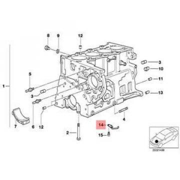 Genuine BMW E38 E39 E46 E53 Estate SUV Oil Spraying Injector OEM 11422246953