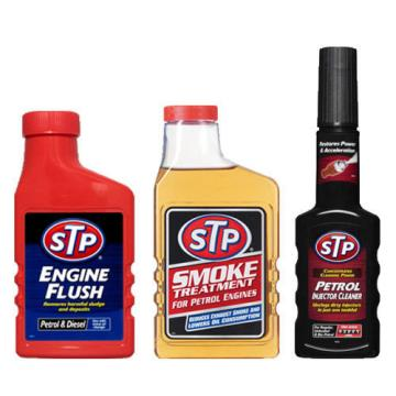 STP 3 Pack ENGINE FLUSH + PETROL EXHAUST SMOKE OIL TREATMENT + INJECTOR CLEANER