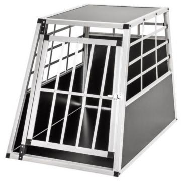 Large Aluminium Dog Pet Cage Transport Crate Car Travel Carrier Box Pet Kennel
