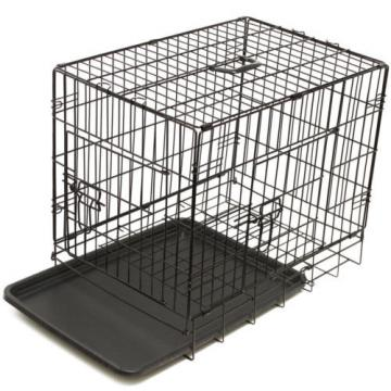"42"" Dog Crate 2 Door w/Divide w/Tray Fold Metal Pet Cage Kennel House for Animal"