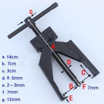2 Jaws Cross-Legged Chrome Steel Gear Bearing Puller Extractor Tool Up to 70mm