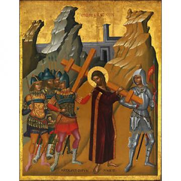 Fine   Art Print of Religious Icon: Christ Bearing the Cross